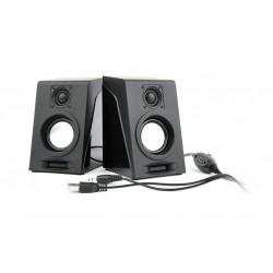 Gembird Multimediálne Stereo Reproduktory 2.0 'Breeze', 6W RMS, čierna SPK-DU-03