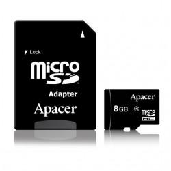 Apacer pamäťová karta Micro SDHC 8GB Class 4 +adapter AP8GMCSH4-R