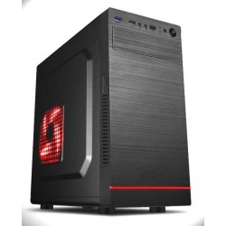 Gembird PC skřiňa mini Tower Fornax 952,červené LED, čierna CCC-FC-11