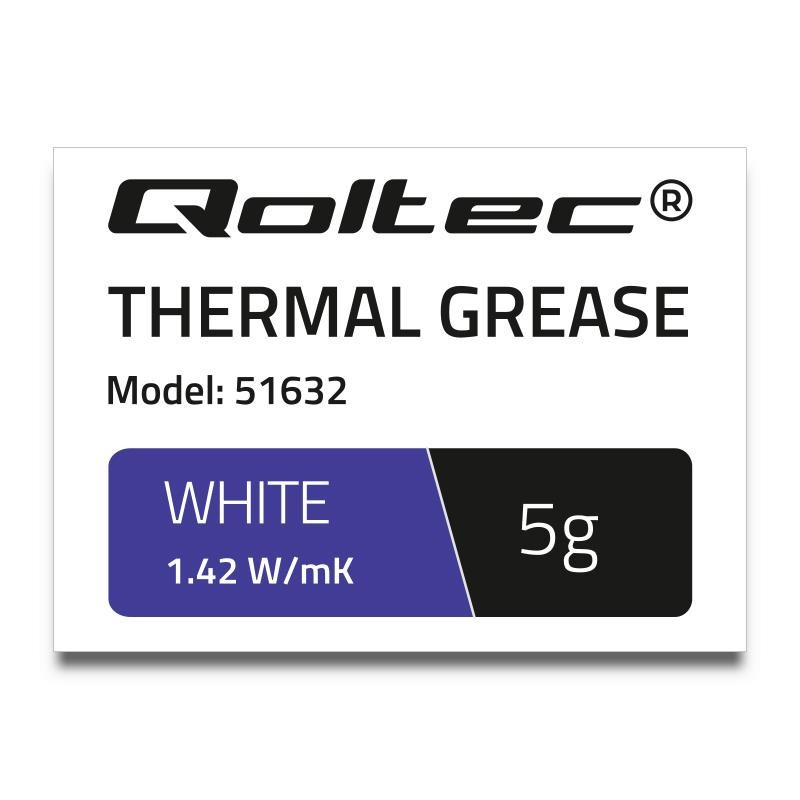 Qoltec teplovodivá pasta 1.42 W/m-K | 5g | White 51632