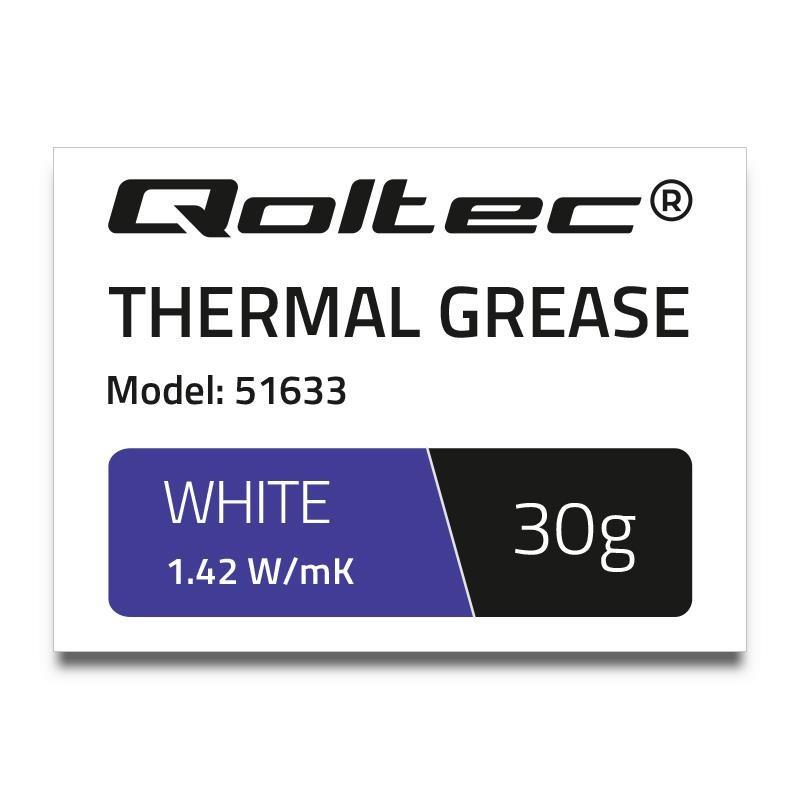 Qoltec teplovodivá pasta 1.42 W/m-K | 30g | White 51633