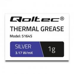 Qoltec teplovodivá pasta 3.17 W/m-K | 1g | silver 51645
