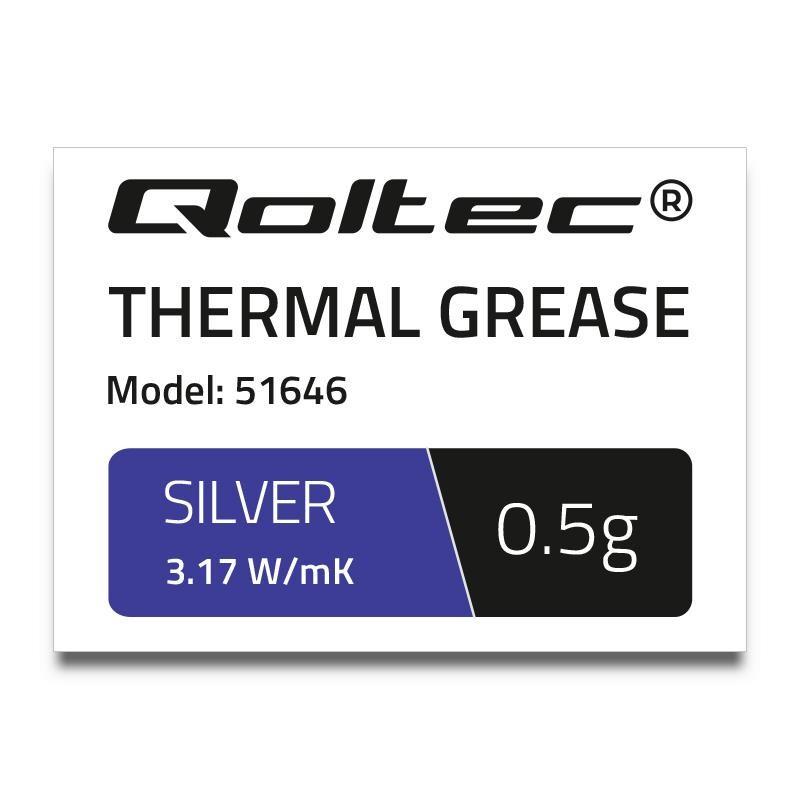 Qoltec teplovodivá pasta 3.17 W/m-K   0,5g   silver 51646