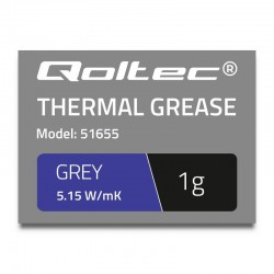 Qoltec teplovodivá pasta 5.15W/m-K | 1g | grey 51655