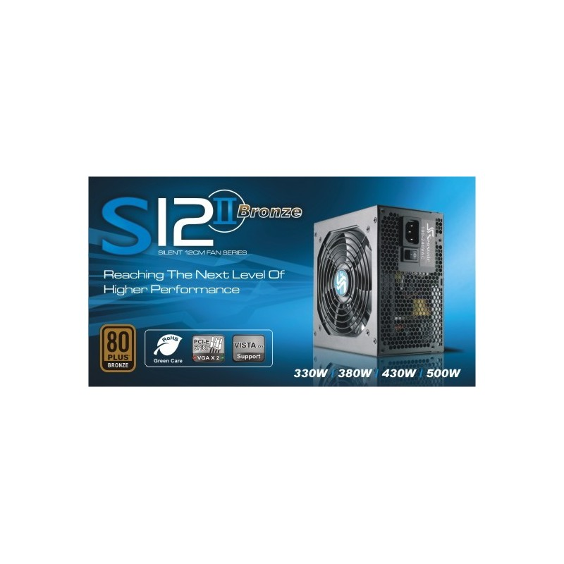 Zdroj 520W, SEASONIC S12II-520 (SS-520GB F3) 80PLUS Bronze, Retail