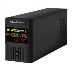 Qoltec Neprerušiteľný zdroj napájania MONOLITH 400VA | 240W LCD USB 53950