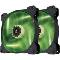 Corsair Air Series SP140 140mm ventilátor, 3pin, zelený LED, Twin pack CO-9050037-WW