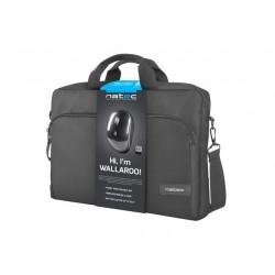Natec Laptop Bag WALLAROO 15,6' Black + wireless mouse NTO-1304