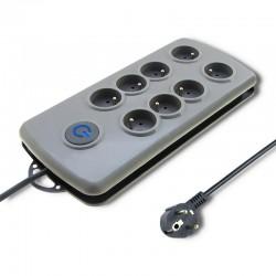 Qoltec Prepäťová ochrana Quick Switch (8 zásuviek), vypínač, 2.5m 50162