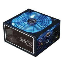 ZALMAN zdroj 600W eff 86% 80Plus, ZM600-TX, ATX12V, PFC, 140mm blue led ventilátor