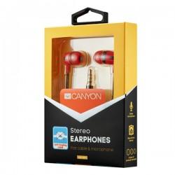 Canyon CNS-CEP4R štýlové slúchadlá do uší, pre smartfóny,...