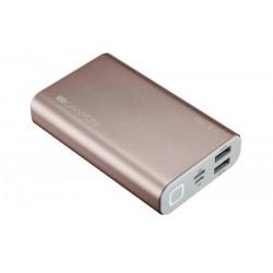 Canyon CND-TPBQC10RG Powerbank 10.000 mAh, Quick Charge 3.0 a Power Delivery, 3 x rýchlejšie nabíjanie, ružovo--zlatá