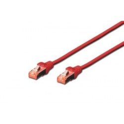 Digitus Patch Cable,S-FTP, CAT 6, AWG 27/7, LSOH, Měď, červený 5m...