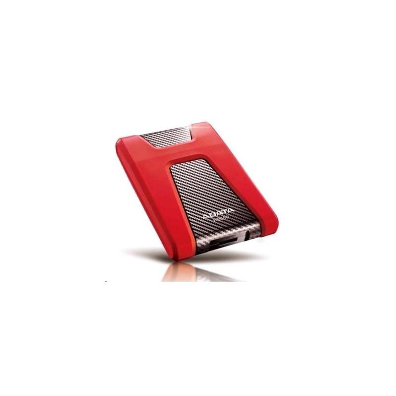 """A-DATA DashDrive Durable HD650 2,5"""" externý HDD 1TB USB 30 červený, vode a nárazom odolný AHD650-1TU3-CRD"""