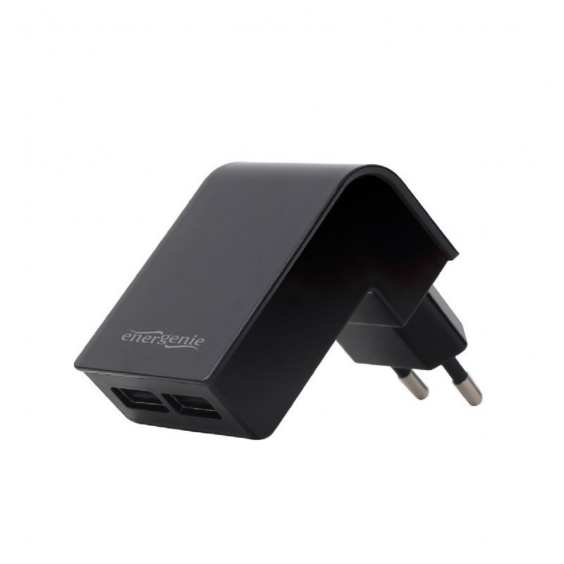 GEMBIRD 2-port universal USB charger, 2.1 A, black EG-U2C2A-02