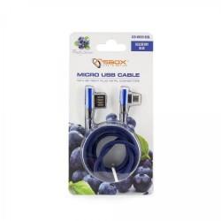 SBOX Kábel USB 2.0/Micro USB 2.0 90stup. 1,5m blu USB-MICRO-90BL