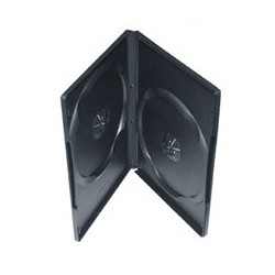 Obal na 2DVD 10ks/balenie, 14mm, čierny, push up system DVDS-B/10