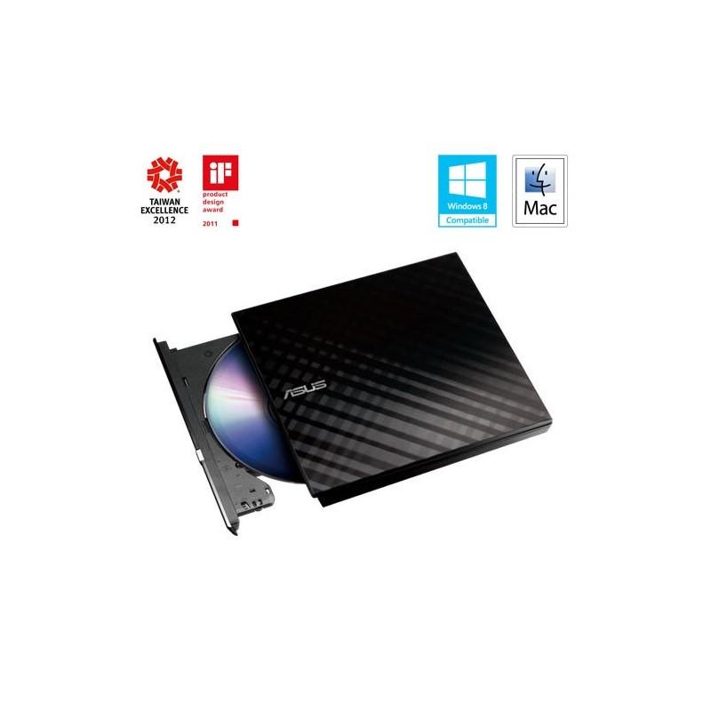 ASUS DVDRW External Slim SDRW-08D2S-U LITE/BLACK, Retail, čierna 90-DQ0435-UA221KZ