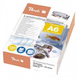 Peach Laminating Pouch A6 (111x154mm), 125mic PP525-04