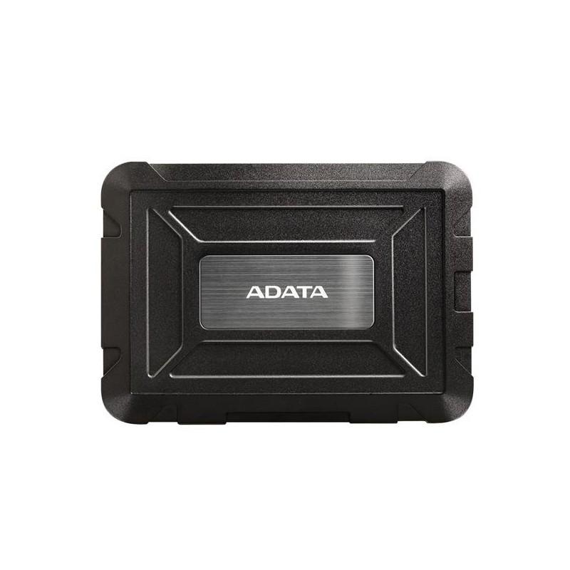 "Externý box pre 2,5"" SSD/HDD . USB 3.1 . BLACK . ADATA AED600-U31-CBK"