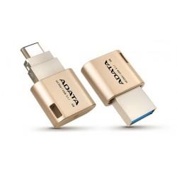 64 GB USB 3.1 klúč ADATA DashDrive Choice UC350, zlatý (USB Type-C, OTG) AUC350-64G-CGD