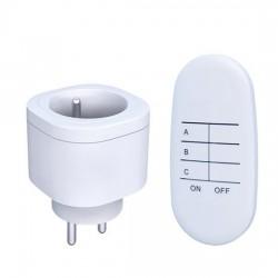 Solight diaľkovo ovládané zásuvky set 2 + 1, 2 zásuvky, 1 ovládač, learning code DY08