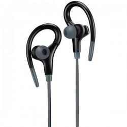 Canyon CNS-SEP2B slúchadlá do uší pre športovcov, integrovaný mikrofón a ovládanie, háčik za ucho, čierne