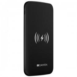 Canyon CNS-TPBW8B Powerbank, polymérová, 8.000 mAh, vstup USB-C + microUSB, 2 x USB výstup, bezdrôtové nab., čierna