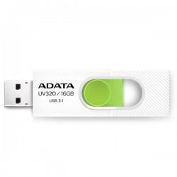 16 GB . USB kľúč . ADATA DashDrive™ Value UV320 USB 3.1, White/Green AUV320-16G-RWHGN