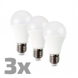 Solight LED žiarovka 3-pack, klasický tvar, 10W, E27, 3000K, 270°, 790lm, 3ks v baleniu WZ529-3