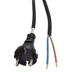 Solight Flexo šnúra, 2,5m, 2x 1,5mm2, gumová, čierna PF32