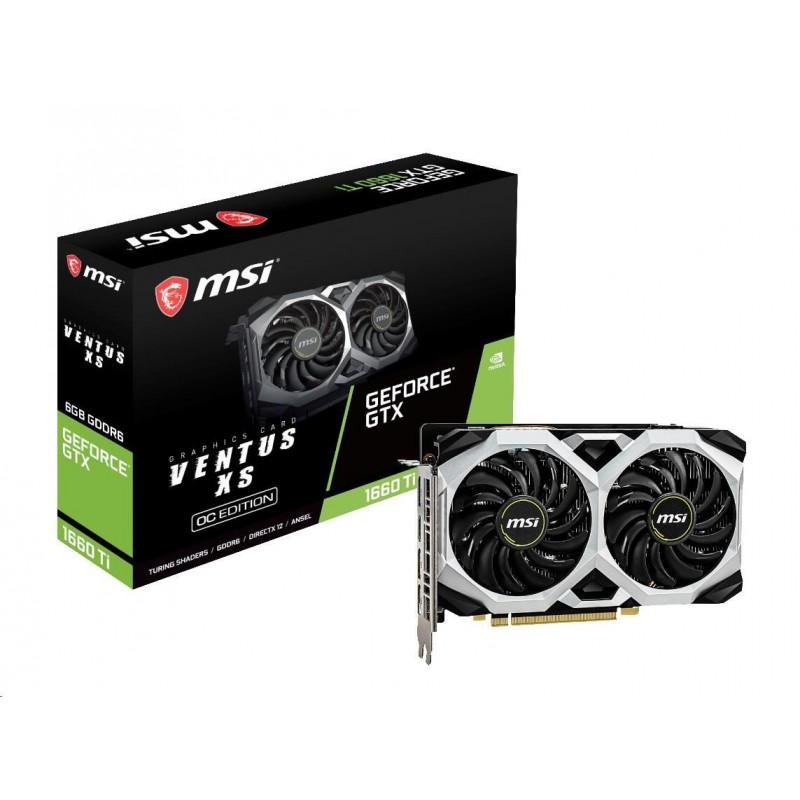 MSI VGA NVIDIA GeForce GTX 1660 Ti VENTUS XS 6G OC, 6GB GDDR6