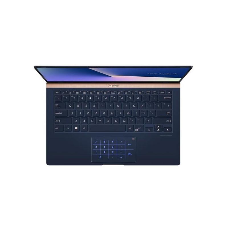 "ASUS Zenbook UX433FN-A5021R Intel i7-8565U 14"" FHD matny NV-MX150/2GB 16GB 512GB SSD WL BT Cam W10PRO modrý"