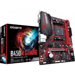 Gigabyte B450M GAMING, AM4, 2xDDR4-2933, USB 3.1, DVI-D/HDMI/D-sub