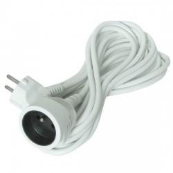 Solight predlžovací kábel - spojka, 1 zásuvka, biela, 5m PS04