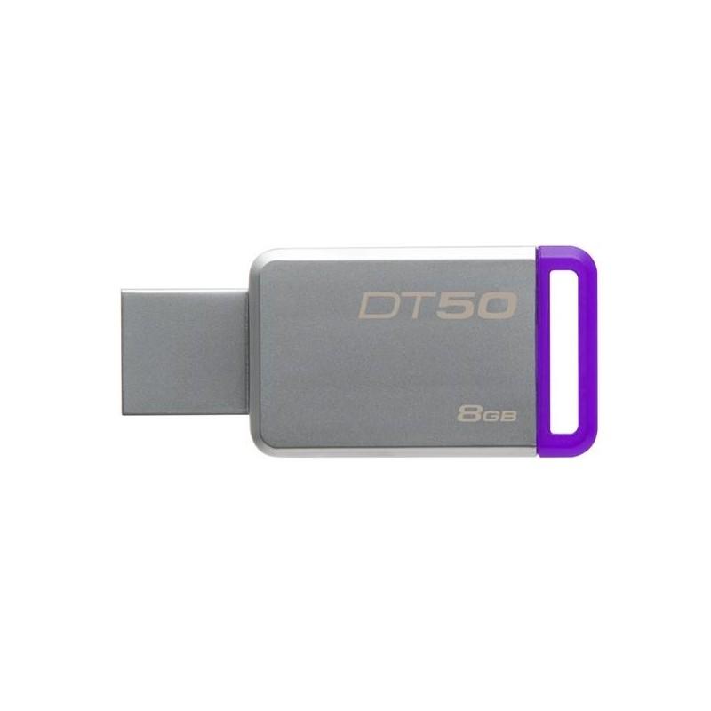 8 GB USB 3.0 klúč Kingston DataTraveler 50 (Metal/Purple) DT50/8GB