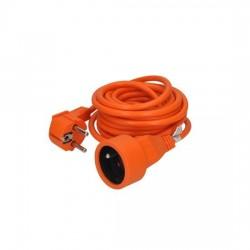 Solight predlžovací kábel - spojka, 1 zásuvka, oranžová, 5m PS04O