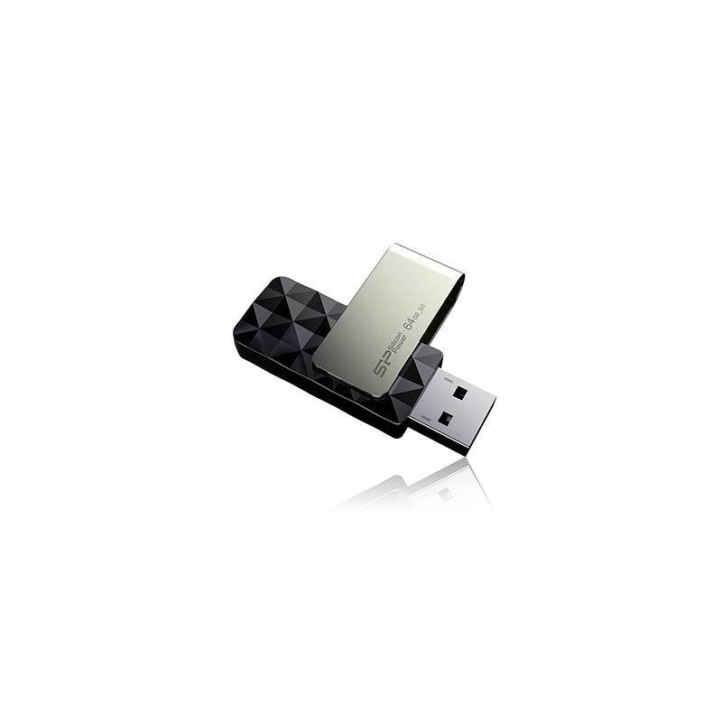 8 GB USB 3.0 kľúč . Silicon Power BLAZE B30, čierny (1 strana prázdna, vhodné na potlač) SP008GBUF3B30V1K