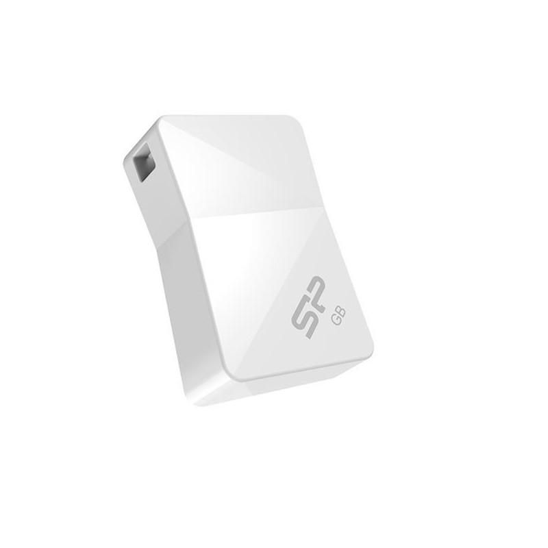 8 GB USB kľúč . Silicon Power Touch T08, biely (odolný voči vode, prachu a nárazom) SP008GBUF2T08V1W