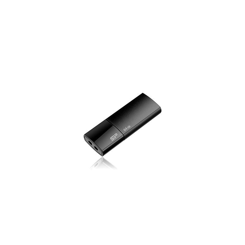 8 GB USB kľúč . Silicon Power Ultima U05, čierny SP008GBUF2U05V1K