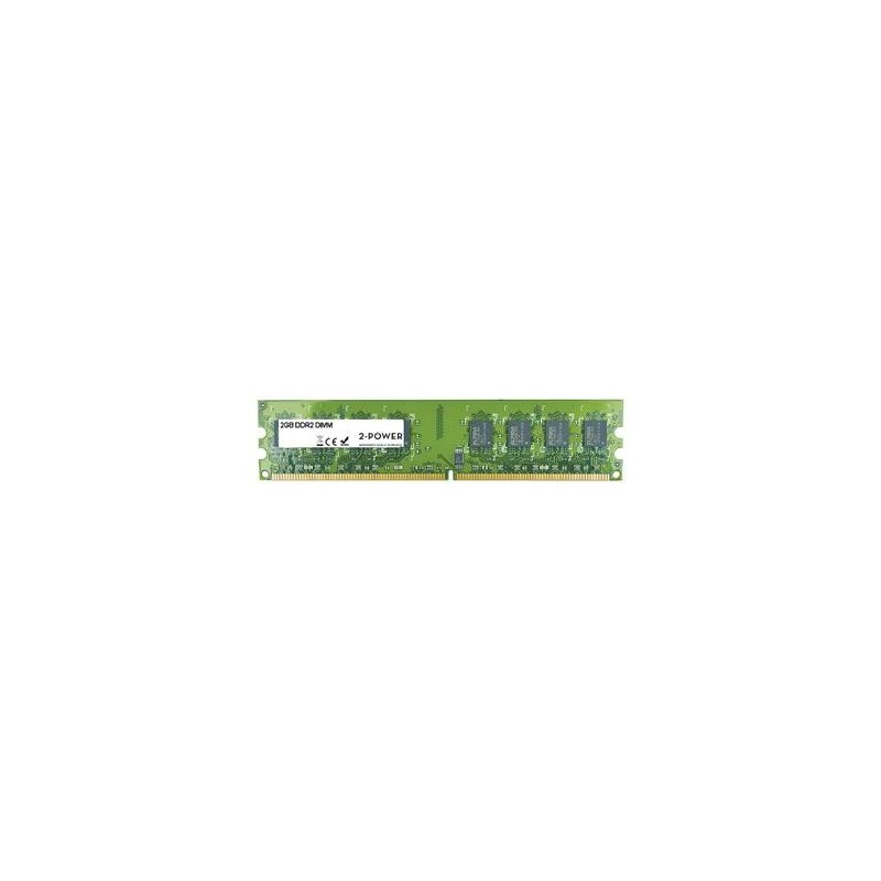 2-Power 2GB PC2-6400U 800MHz DDR2 Non-ECC CL6 DIMM 2Rx8 MEM1302A