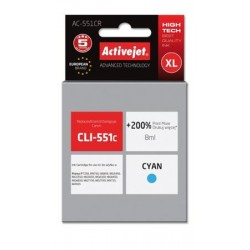 ActiveJet ink cartr. Canon CLI-551C premium with chip - 10 ml AC-551CR EXPACJACA0134