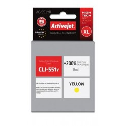 ActiveJet ink cartr. Canon CLI-551Y premium with chip - 10 ml AC-551YR EXPACJACA0136