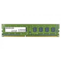 2-Power 2GB PC3-10600U 1333MHz DDR3 CL9 Non-ECC DIMM 2Rx8 ( DOŽIVOTNÍ ZÁRUKA ) MEM2102A