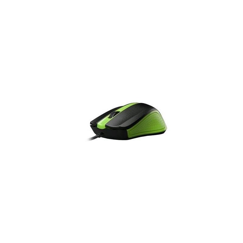 C-TECH myš WM-01, zelená, USB WM-01G