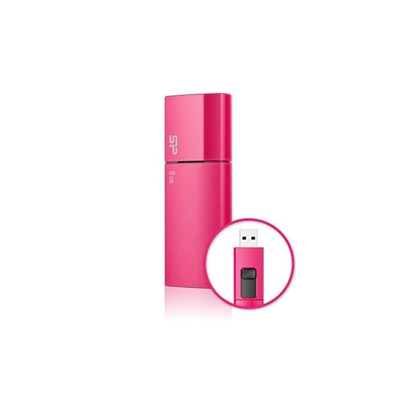 8 GB USB kľúč . Silicon Power Ultima U05, ružový SP008GBUF2U05V1H
