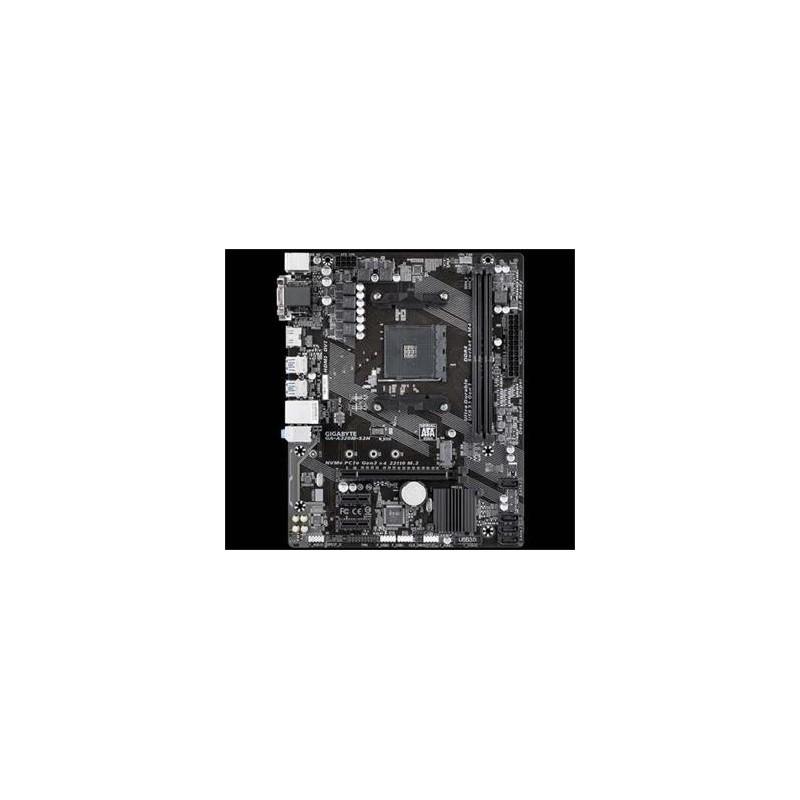GIGABYTE MB Sc AM4 A320M-S2H, AMD A320, 2xDDR4, VGA, mATX