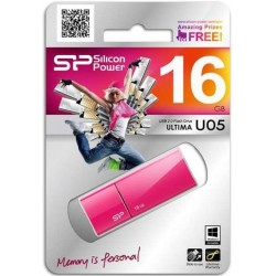 16 GB USB kľúč . Silicon Power Ultima U05, ružový SP016GBUF2U05V1H