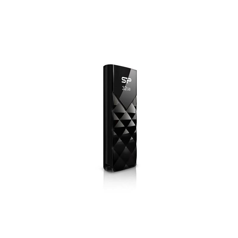8 GB USB kľúč . Silicon Power Ultima U03, čierny SP008GBUF2U03V1K