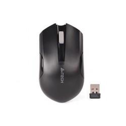 A4tech G3-200NS, V-Track, bezdrátová optická myš, 2.4GHz, 10m dosah, tichá bez klikání, černá